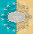 Invitation wedding card with lilies and place for vector image vector image