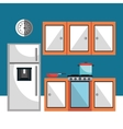 Kitchen utensils and dishware vector image