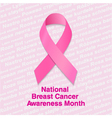 National Breast Cancer Awareness Month vector image vector image