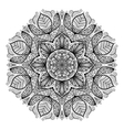 Page of coloring book with round mandala vector image