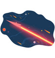 paper airplane launch to outer space with planets vector image