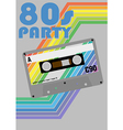 Retro party poster vector