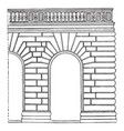 rustication was first treated systematically vector image vector image
