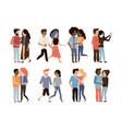 set of man and woman couple vector image vector image