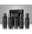 set of men cosmetics package vector image vector image