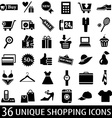 set shopping icons vector image vector image