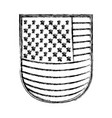 Shield with flag united states of america