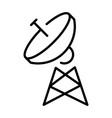 simple monochrome radio tower antenna linear icon vector image