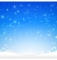 Star night and snow fall bakcground 002 vector image vector image