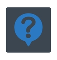 Status flat smooth blue colors rounded button vector image vector image
