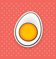 sticker half boiled egg vector image vector image