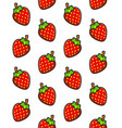 strawberries seamless pattern on white background vector image vector image