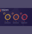 stylish colorful infographic template with vector image vector image