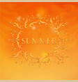 summer design with floral pattern vector image