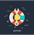 support flat concept vector image vector image