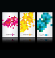 three colored business cards vector image vector image