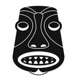 tiki idol icon simple style vector image