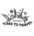 travel agency signboard and tourism vector image