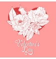 Valentines day design with rose vector image vector image