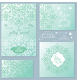 wedding invitation set 2 380 vector image