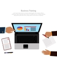 Workspace Business Training vector image vector image