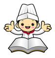 cartoon cook character recipe research isolated vector image