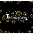 Thanksgiving Gold Black Postcard vector image