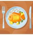Fresh fish healthy dinner Delicious dish vector image
