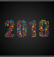 2019 new year christmas the bubbles dots shape vector image