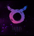 abstract zodiac sign taurus on a dark vector image