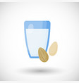 almond milk flat icon vector image