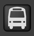 black bus icon vector image