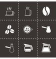 Black coffee icons set