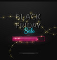 black friday sale logo in glossy color vector image
