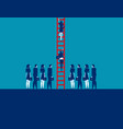 business people crowd and moving up concept vector image vector image