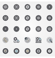 Car wheel icons set vector image vector image