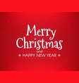 christmas greeting card happy new year concept on vector image