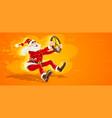 christmas santa claus drives vector image