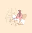 cozy relax dream concept vector image