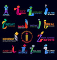 creative abstract style corporate identity i icons vector image vector image