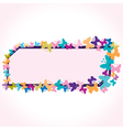 creative butterfly design vector image