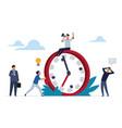 deadline concept office people work in high vector image vector image
