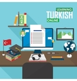 E-learning Turkish language vector image vector image