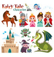 fairy tales characters vector image
