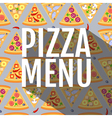 Flat style seamless pattern pizza background vector image vector image