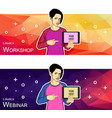 for web banners and vector image vector image