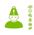 Head Stress Icon With Free Bonus vector image vector image
