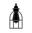 industrial caged lamp vector image vector image