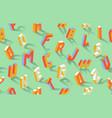 isometric alphabet abc seamless pattern vector image vector image