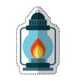 kerosene lantern isolated icon vector image